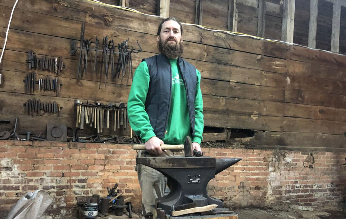 Blacksmith and his anvil