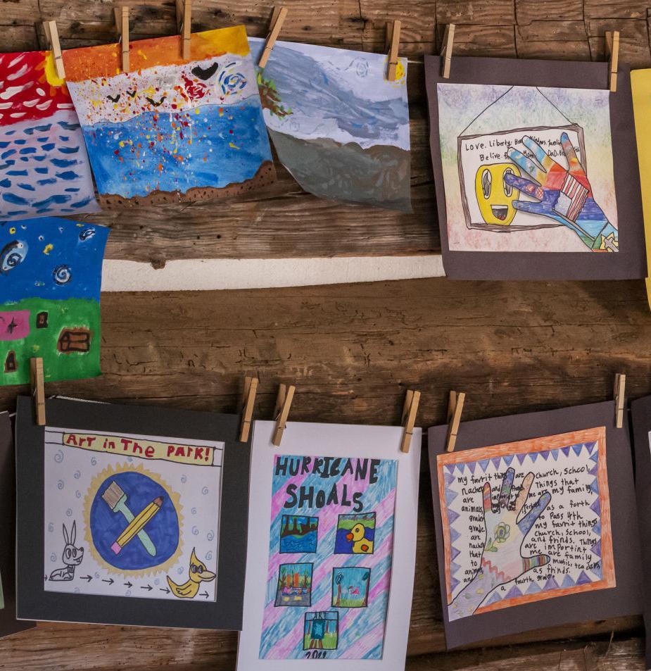 CHILDREN'S ART ON DISPLAY