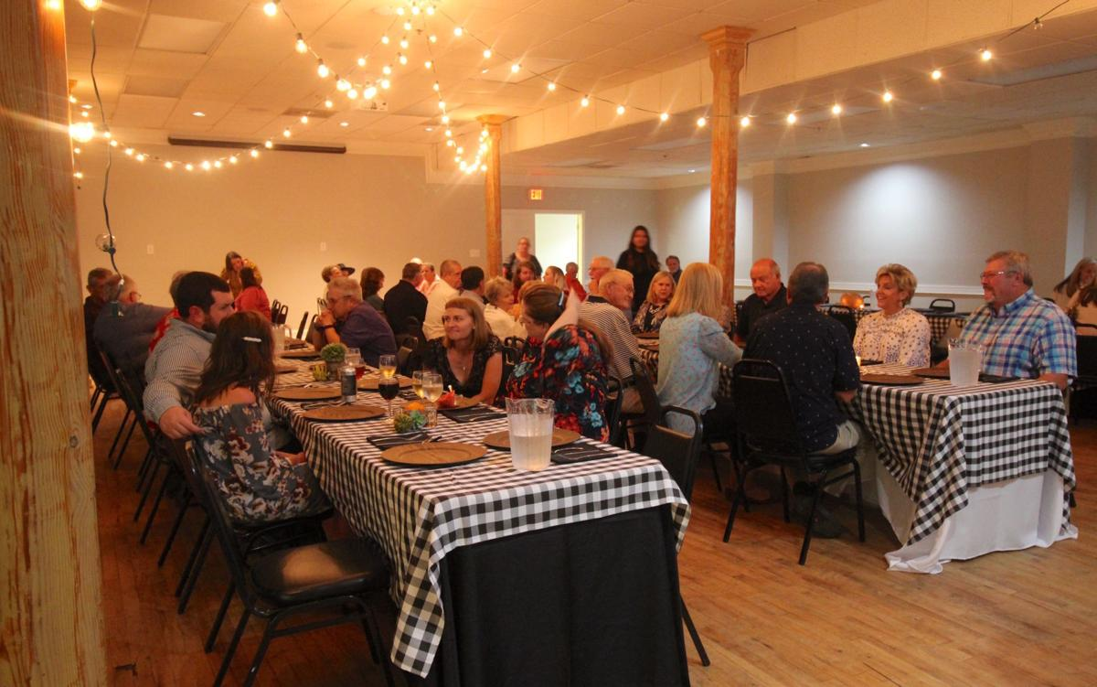 Communal tables at Farm to Table dinner