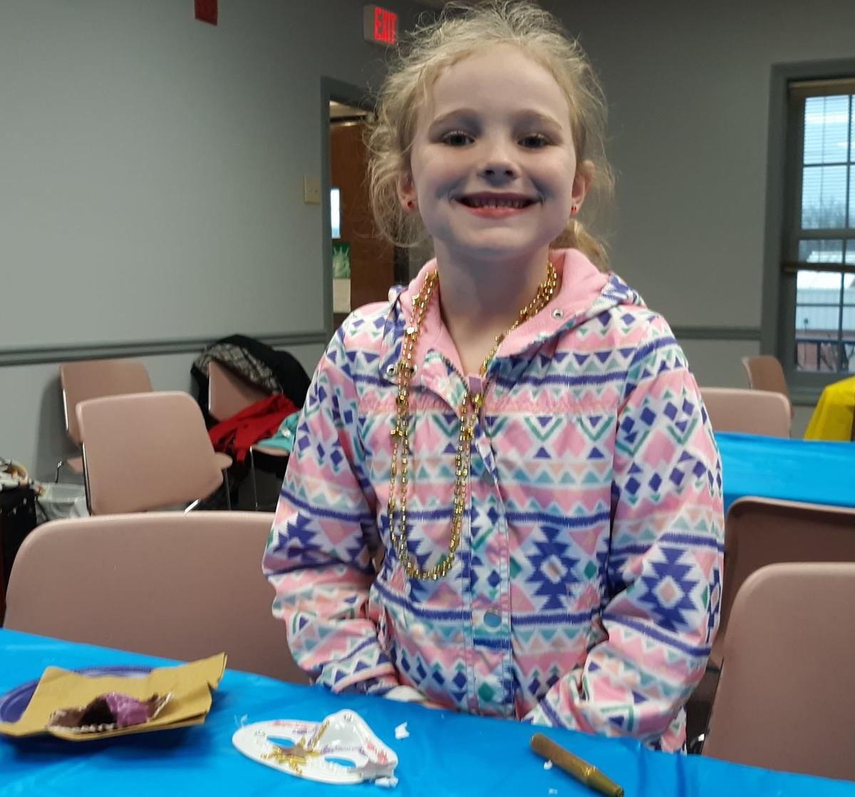 Mardi Gras crafts at the library