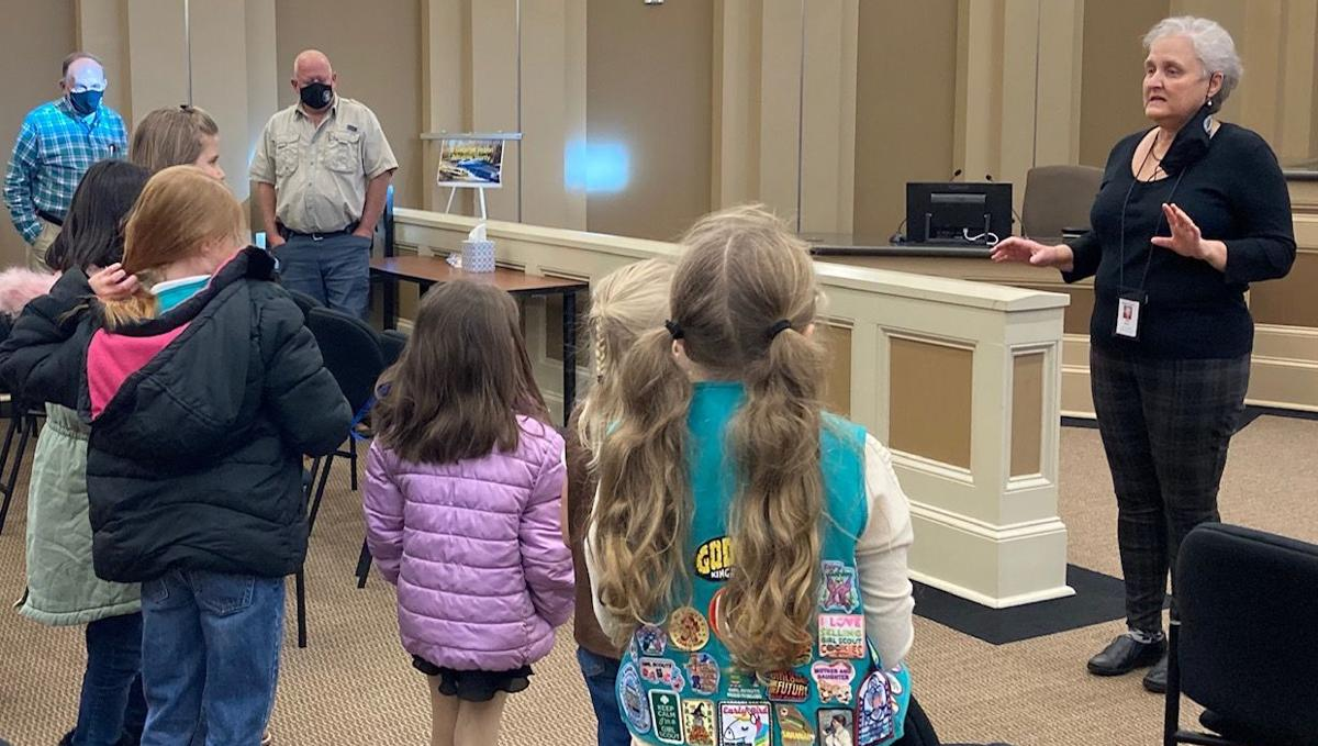COUNTY CLERK LEADS TOUR