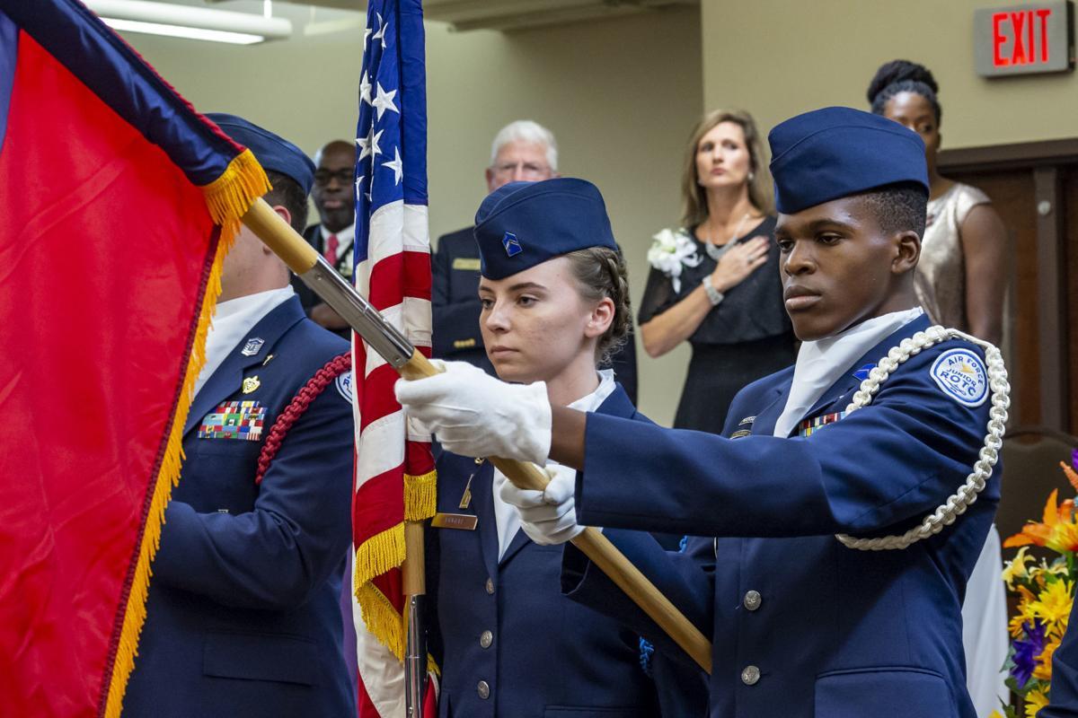 JHS honor guard presents colors