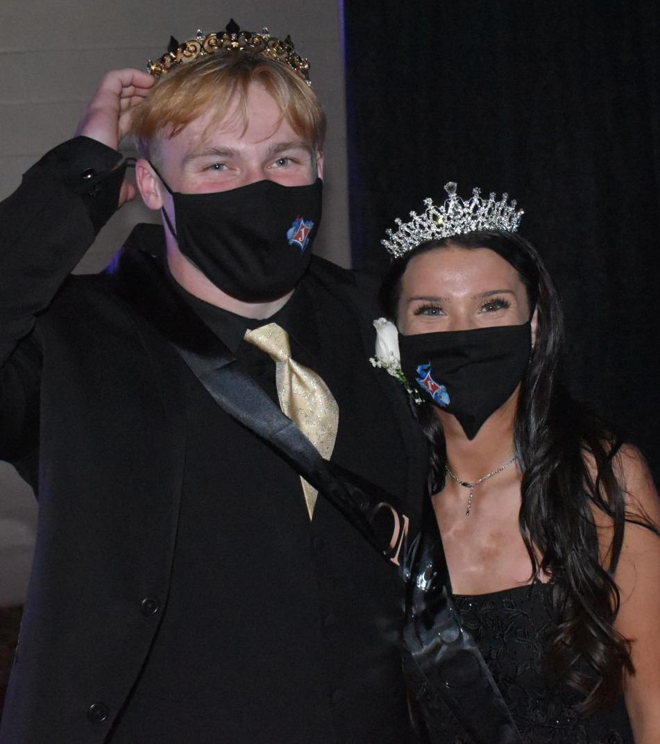 CROWNED PROM KING AND QUEEN