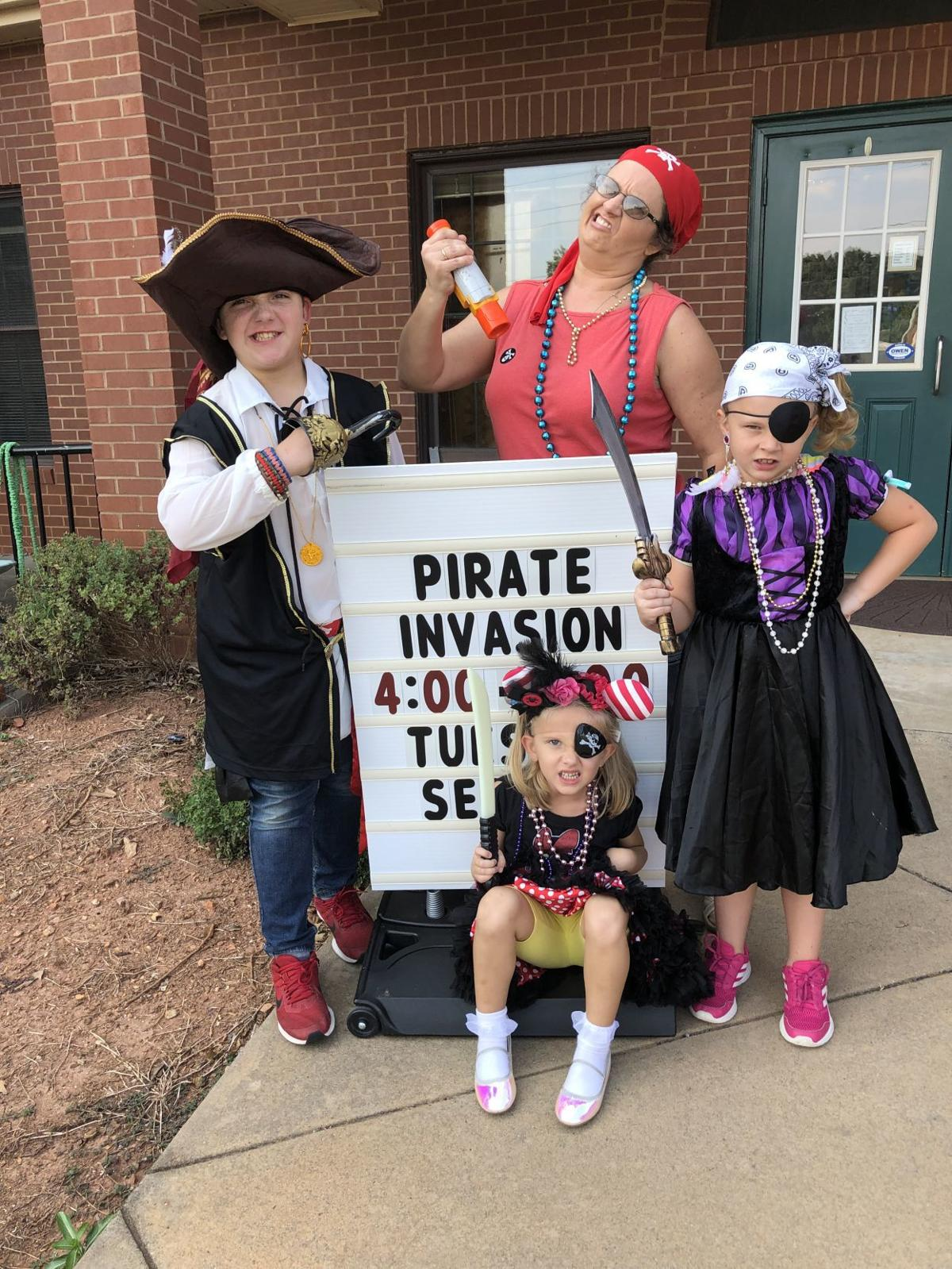 Pirates invade Nicholson library