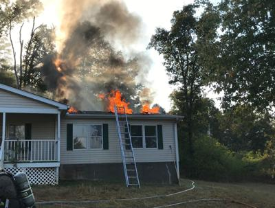 Home on Hog Mountain Road damaged by fire