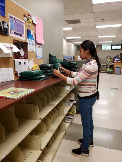Hernandez does summer work at library