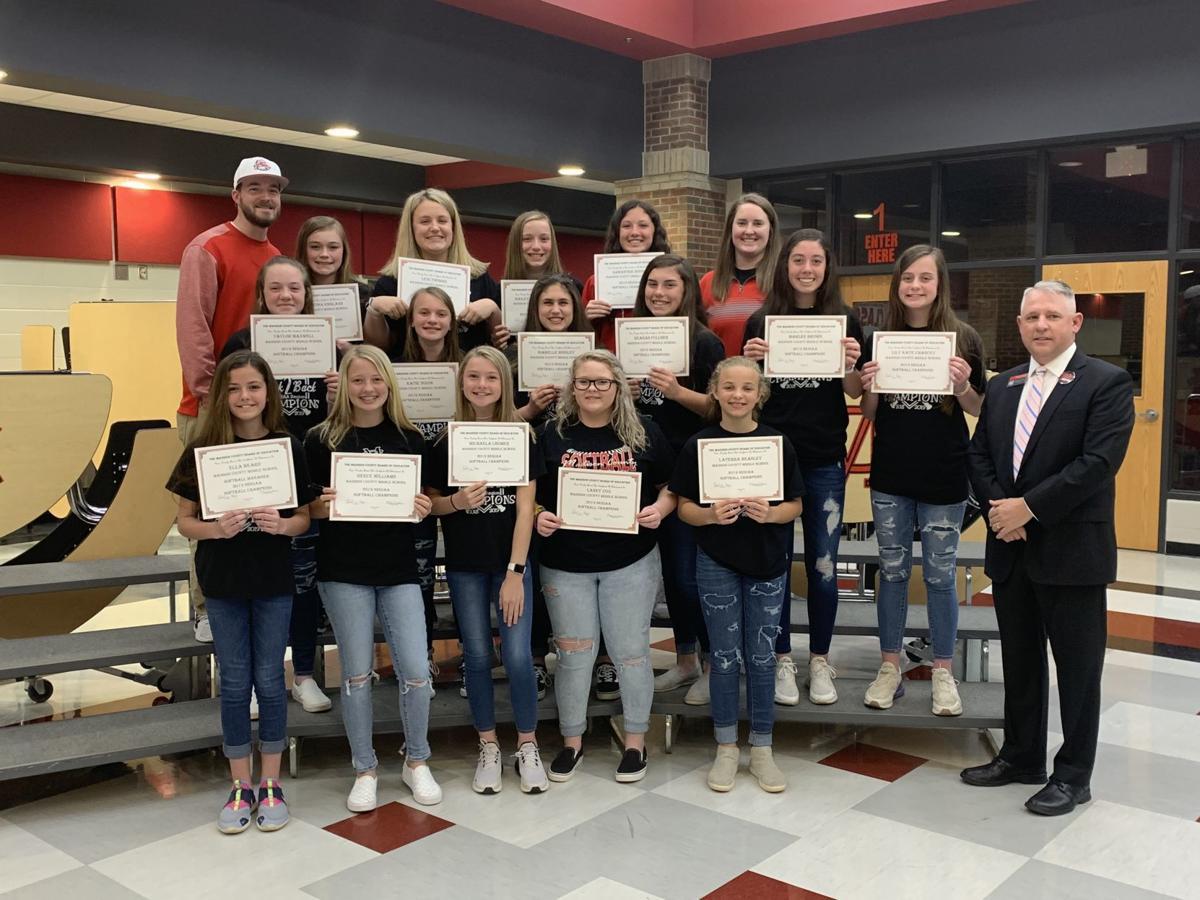MCMS softball team recognized