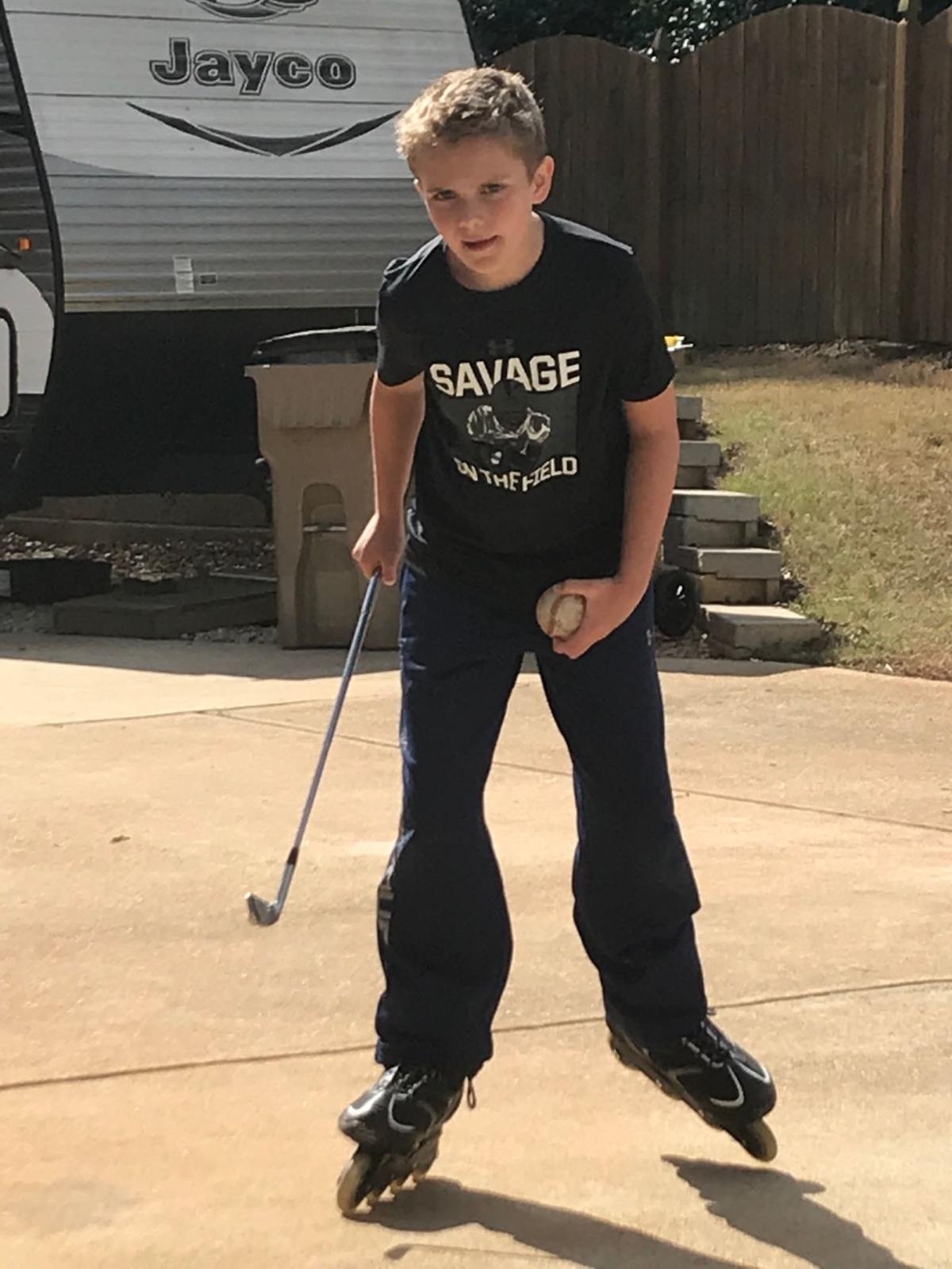 Bray ready to play roller hockey