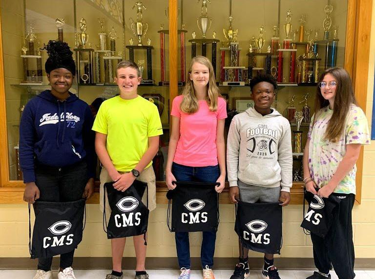 Eighth grade students of the month