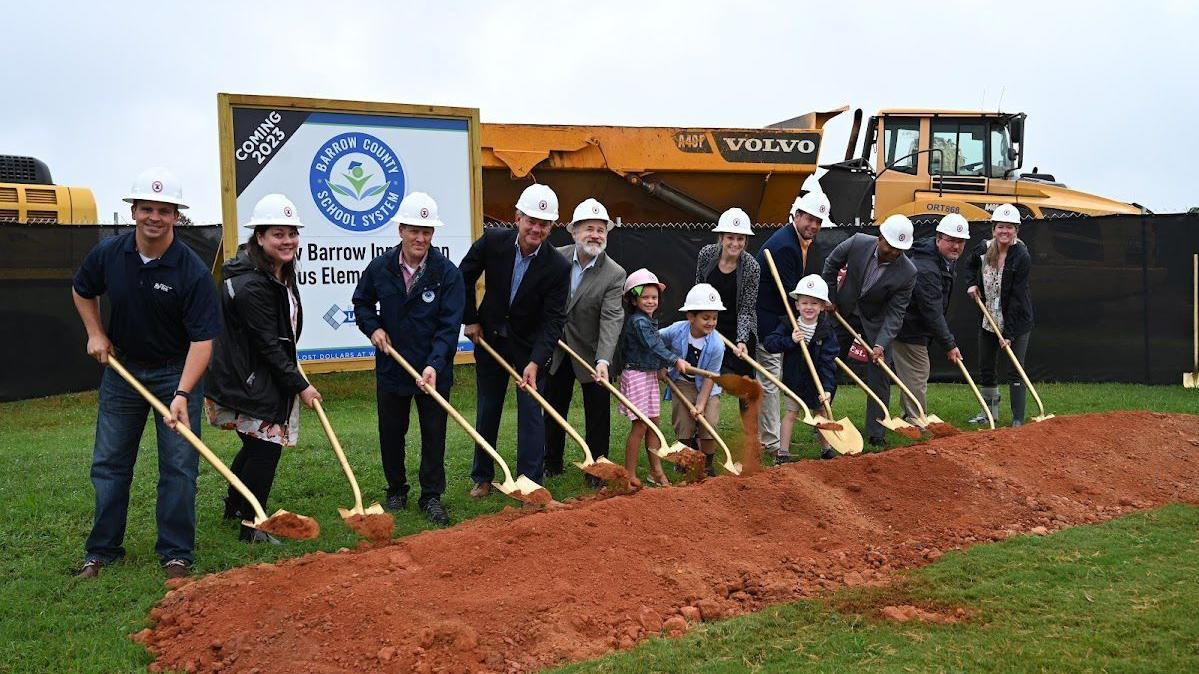 Officials break ground on new Barrow elementary school