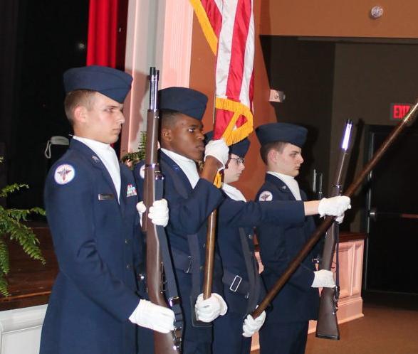 JEFFERSON AIR FORCE JR. ROTC PRESENTS COLORS