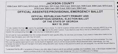 Republican ballot