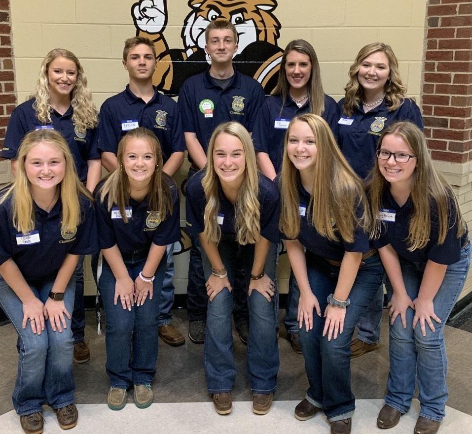 COMMERCE FFA OFFICERS