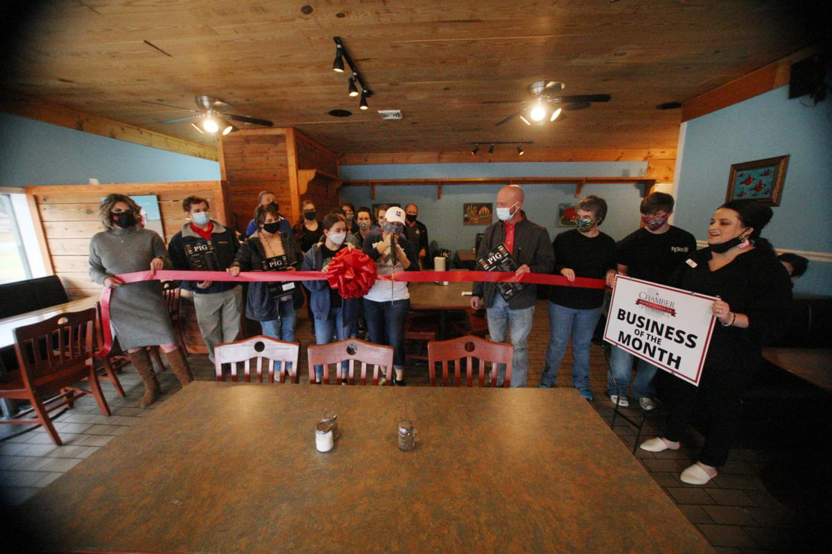 Ribbon cutting held for the PIG; restaurant named 'Business of the Month'