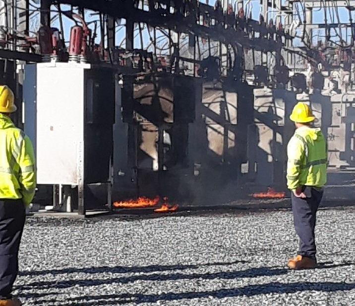Fire damages regulator station