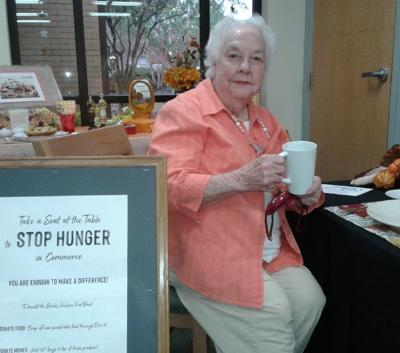 ENCOURAGES DONATIONS TO FOOD DRIVE