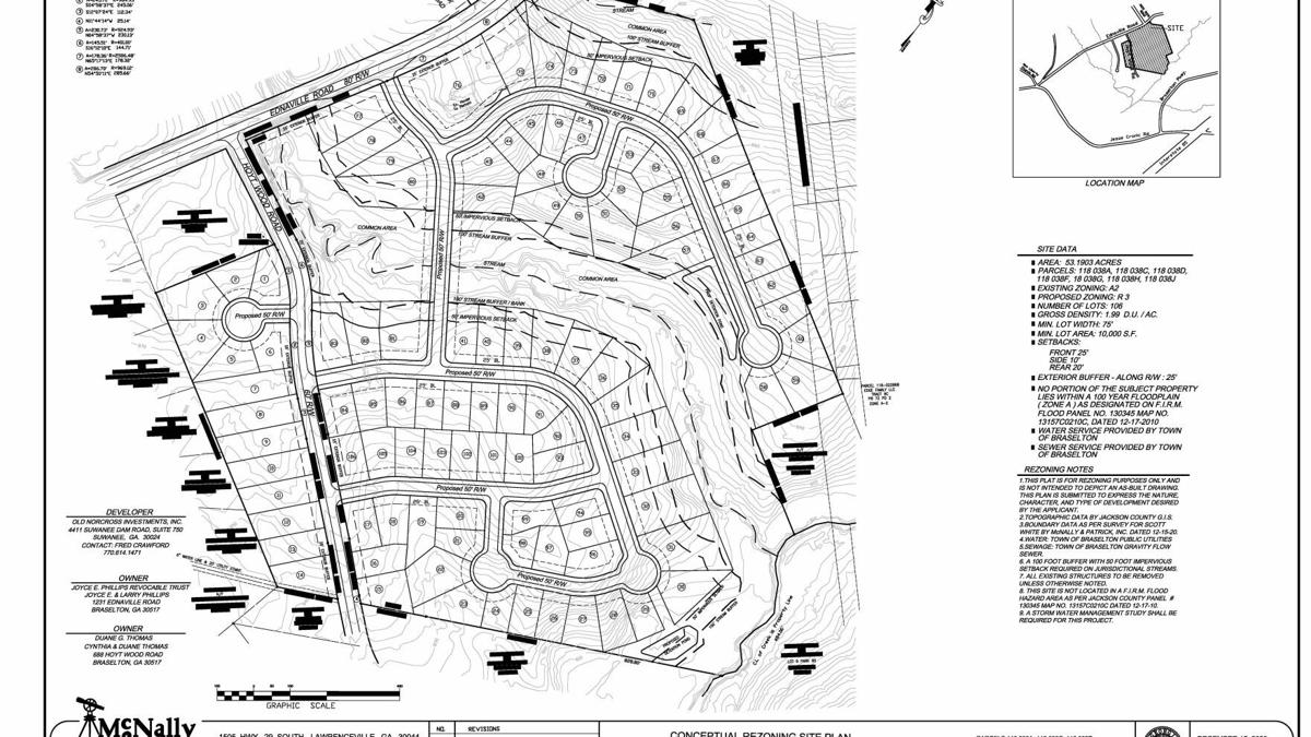 106-home subdivision planned off Ednaville Rd.
