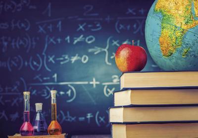 Apple and globe