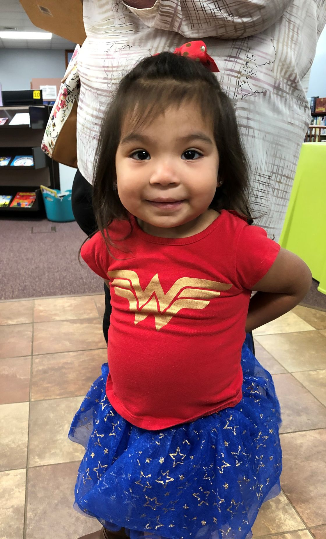 Wonder Woman at the library