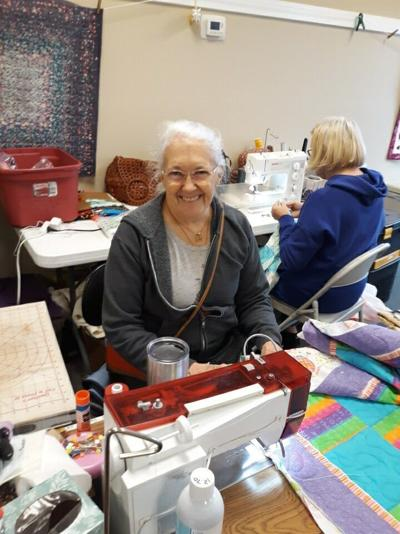 Quilting at the library