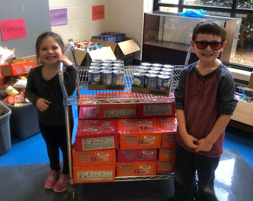 Goods collected at GSES