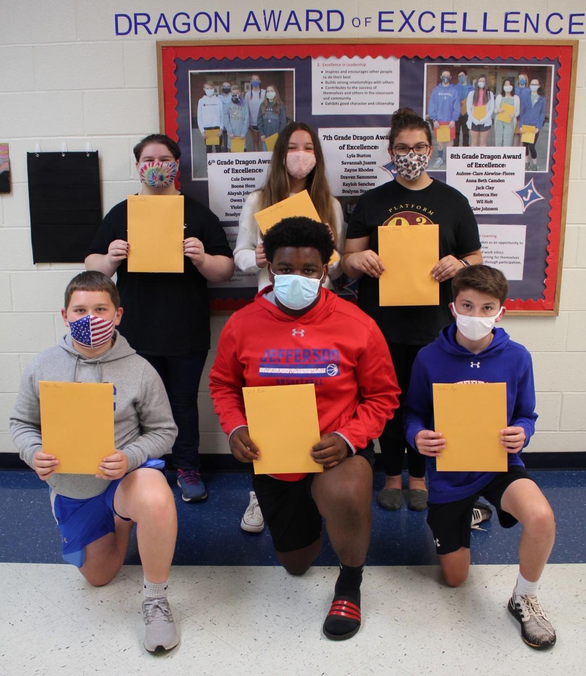 Seventh grade honorees