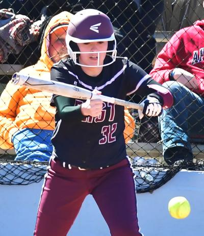 Maleah Anderson had a hit in East Robertson's 16-8 loss to Houston County last Tuesday. PHIL STAUDER