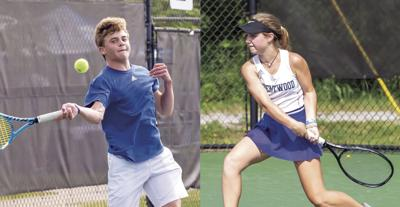 Brentwood's Donovan Janicek (left) and Georgia Fischer were named the Main Street Preps Boys and Girls tennis Players of the Year in Williamson County