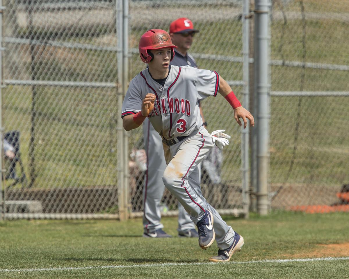 Creek Wood's Will Secker scored the winning run against Waverly on a passed ball in the ninth inning. Howard Abell / Mid Tenn Sports / FILE