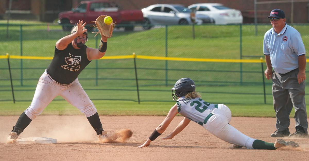 Eagleville softball wins two to reach final three