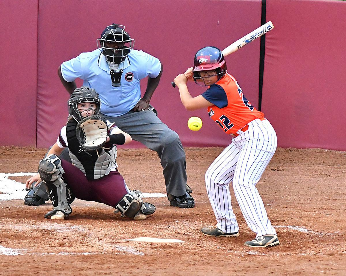 Dickson County's Octavia Petty waits for a pitch against Franklin in the District 11-AAA tournament. Marty Allison/Dickson Sports Media