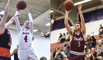 Page's Faith Wilken (left) and Franklin's Reese Glover were named the District 11-AAA MVPs