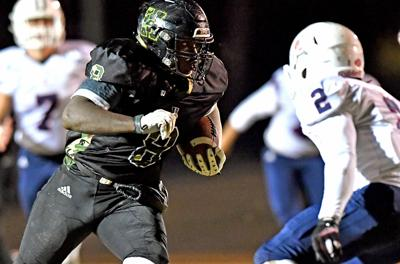 Brent Rowe scored two touchdowns for the Commandos Friday night in the 59-42 win over Cookeville.