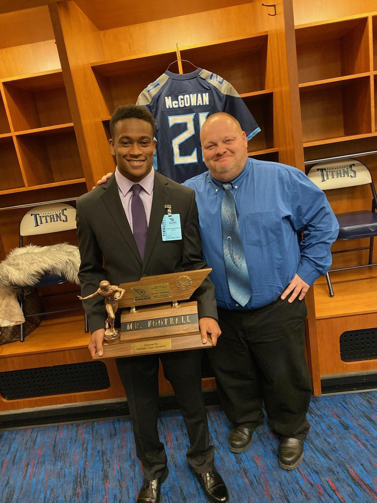 MTCS' McGowan wins Tennessee Titans Mr. Football Award