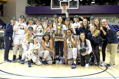 The PCA girls celebrate with their DII-A state championship