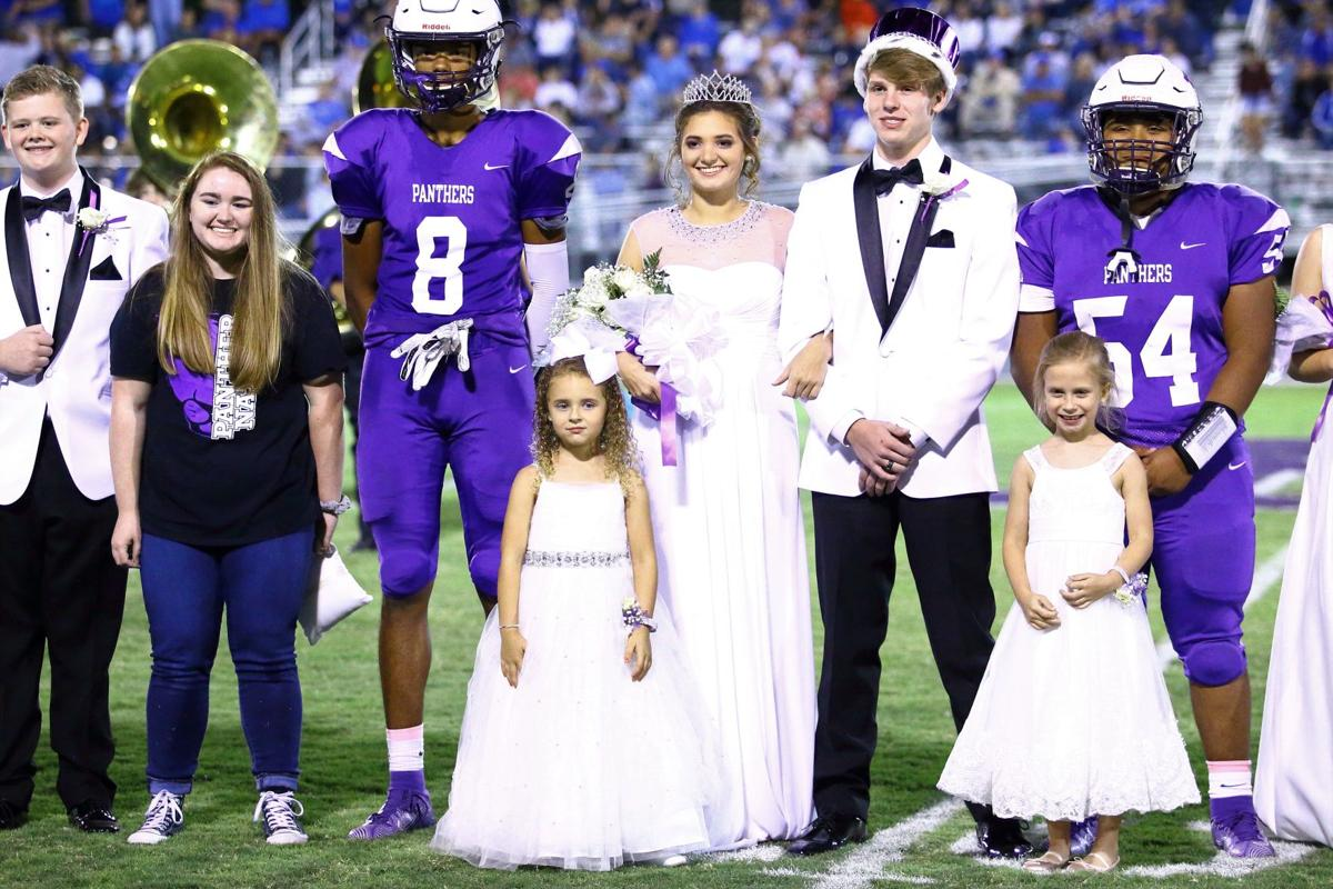 2019 Homecoming King Connor Simmons and Queen Emma Gregory, with Anna Claire Johnson (Queen) and Emily Helm (King) President Avery Crawford and Captains Dairius Bell and Raymond Betancur. .jpg