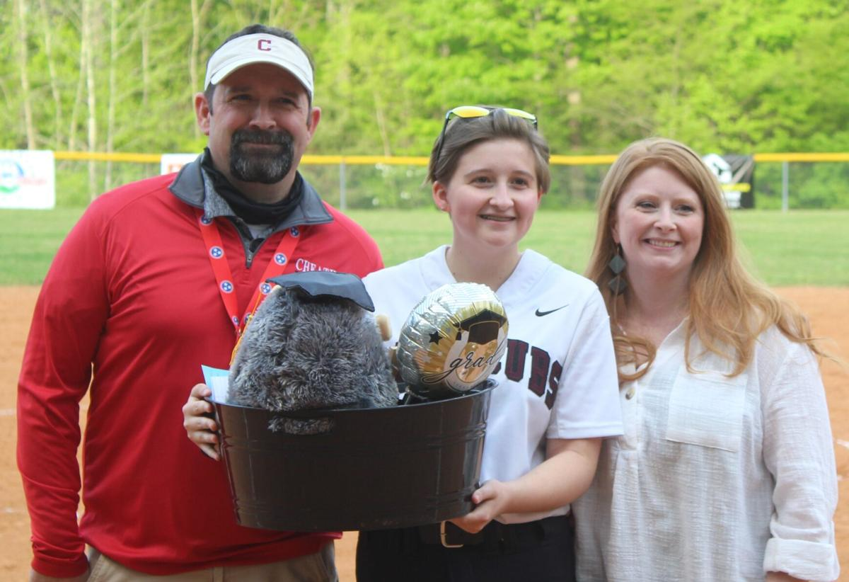 Teegan Boyd was one of the seniors celebrated on senior night for Cheatham County Central. CASEY PATRICK.JPG