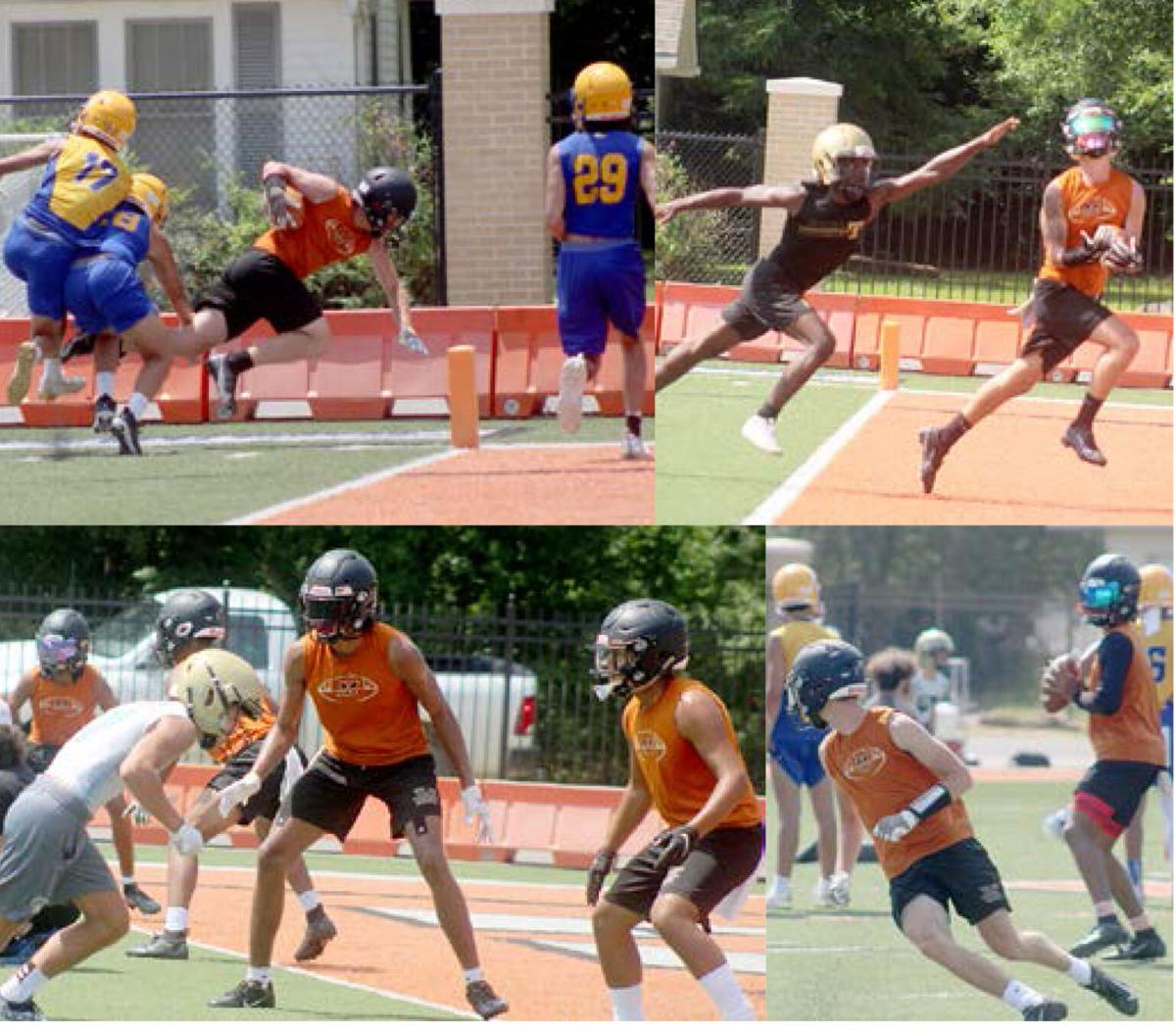 James King Memorial 7-on-7 Tourney Leopards in action pic.