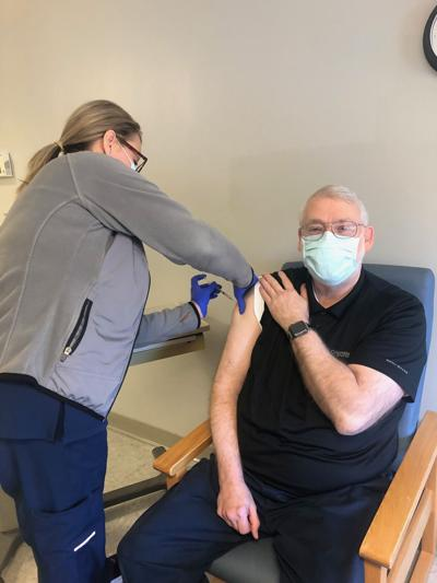 Baptist Health Medical Center-Hot Spring County employees receive COVID-19 vaccine