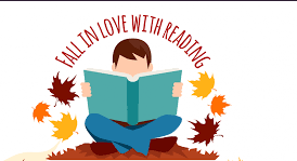 Malvern/Hot Spring County Library fall reading logo pic.
