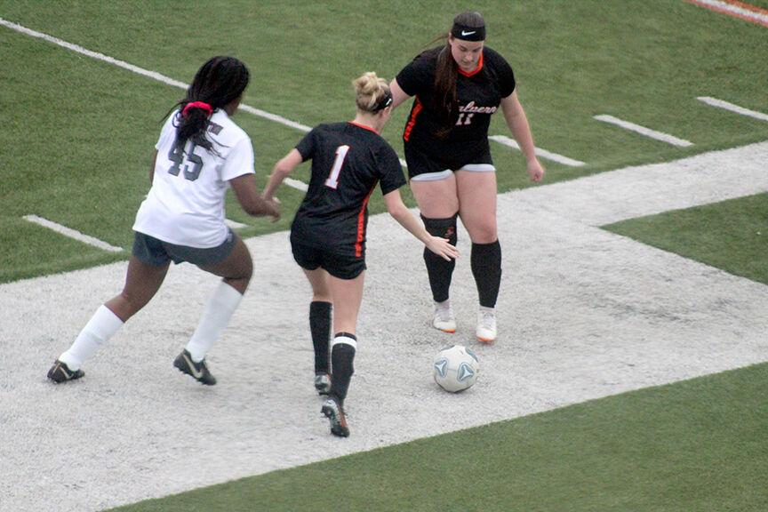 Lady Leopards vs. Morrilton soccer pic.1