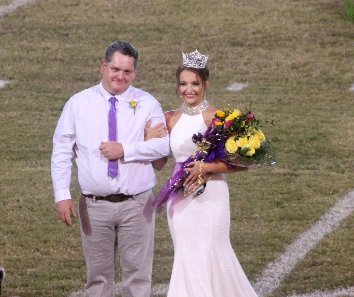 Poyen Homecoming Queen Rachel Hobbs with dad T.J. Hobbs pic.1.jpg