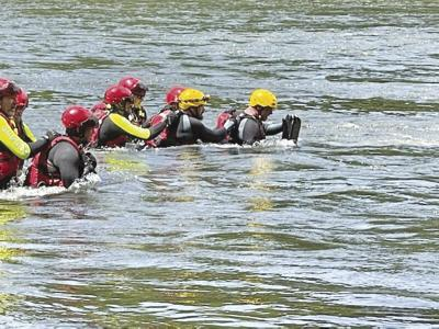 Water rescue training pic.