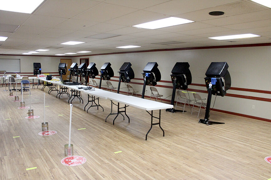 Early voting setup at HSC Fairgrounds pic.1