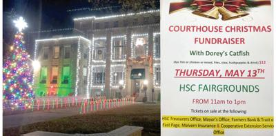Christmas on the Courthouse square fundraiser 2021 event pic.