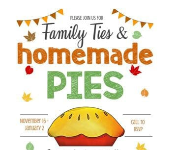 The Crossing Family Ties & Homemade Pies flyer pic.