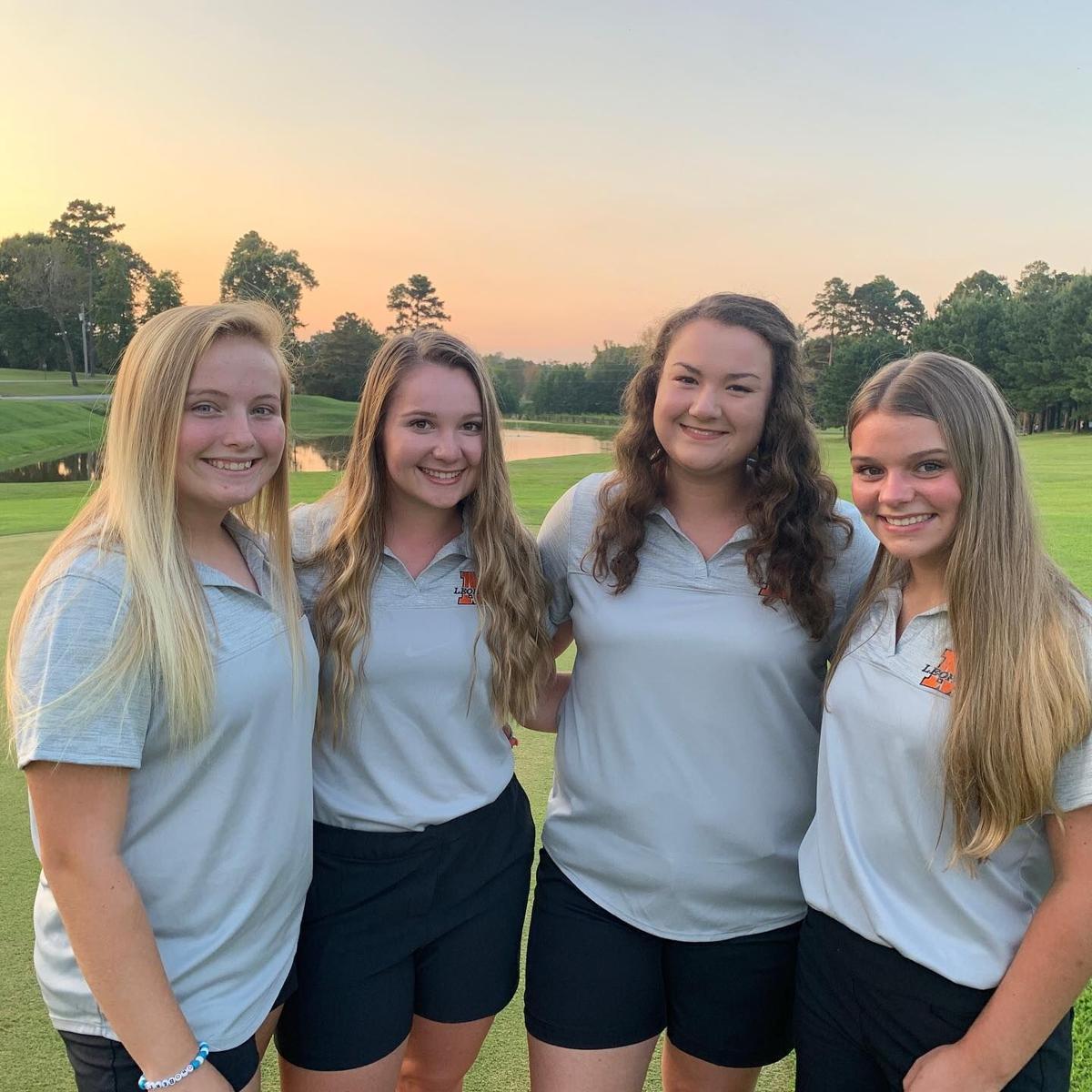 Malvern girls golf group photo