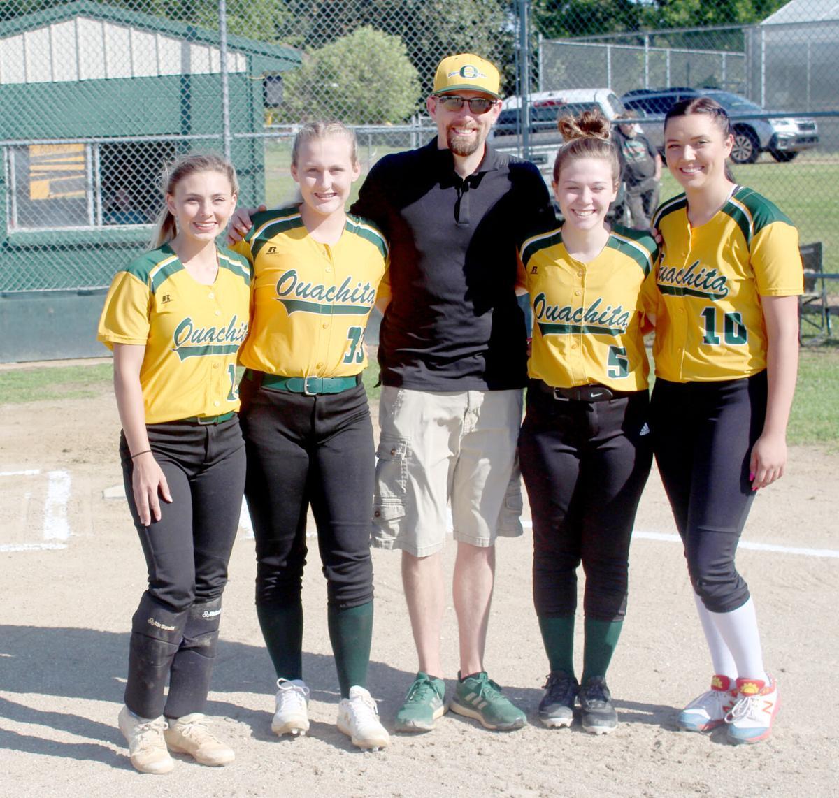 Lady Warriors softball seniors pic.