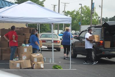 CADC food box distribution pic.