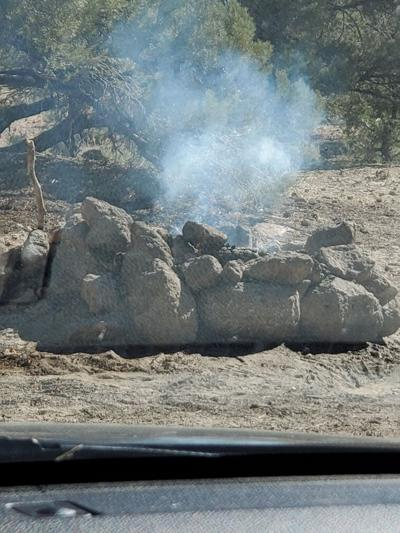 burning campfire pic